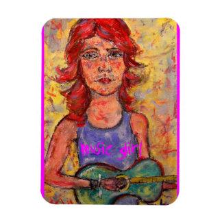 music girl art magnet