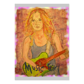 Music Girl Large Business Cards (Pack Of 100)