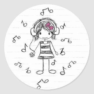 Music Girl Stickers