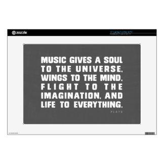 "Music Gives 15"" Laptop Skin"