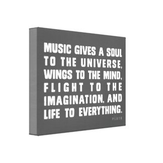 Music Gives A Soul To The Universe Gallery Wrap Canvas