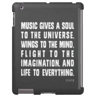 Music Gives A Soul To The Universe iPad Case