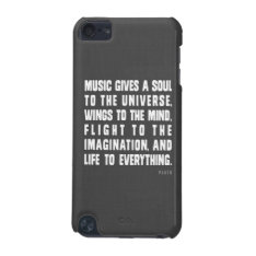 Music Gives A Soul To The Universe Ipod Case at Zazzle