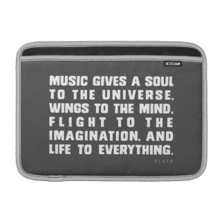 Music Gives A Soul To The Universe MacBook Air Sleeve