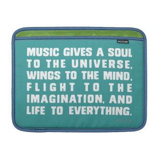 Music Gives A Soul To The Universe MacBook Sleeve