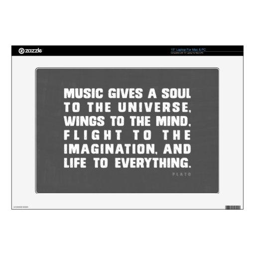 "Music Gives 15"" Laptop Skins"