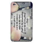 Music gives soul bells rose design Case-Mate iPod touch case
