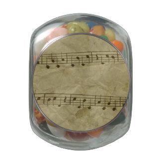 Music Glass Candy Jars