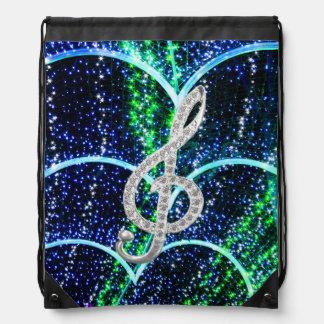 music glef drawstring bag