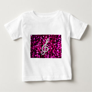Music Glef with light background Baby T-Shirt