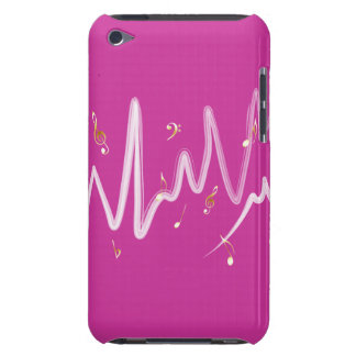 Music (gold and white 1) iPod touch Case-Mate case