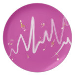 Music (gold and white 1) party plates
