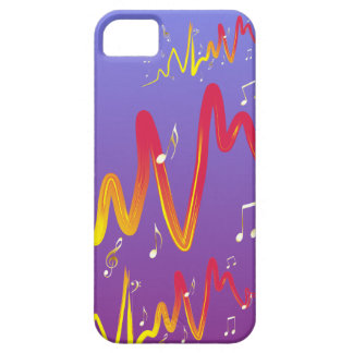 Music (gold, yellow, red 1) iPhone SE/5/5s case
