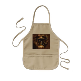 Music, Golden clef on a shield decorated Kids' Apron
