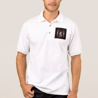 Music, golden microphone polos