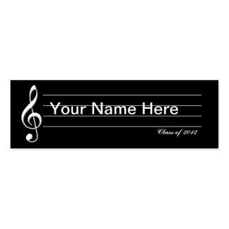 Music Graduate Card Mini Business Card