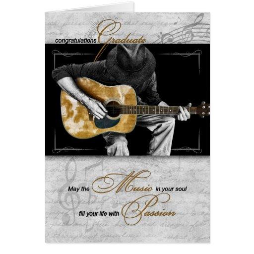 Music Graduate Congratulations - Guitarist Greeting Cards