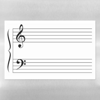 Music Grand Staff Staves Lines System Blank Empty Magnetic Dry Erase Sheet