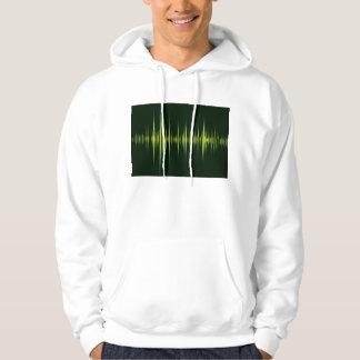 Music graphic equaliser hoodie