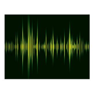 Music graphic equaliser postcard