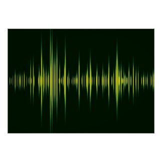 Music graphic equaliser poster