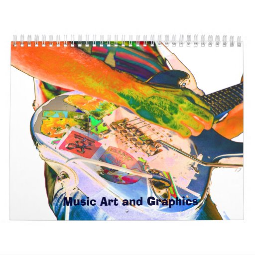 Music graphics and images 2012 monthly calendar