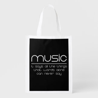 Music Grocery Bag