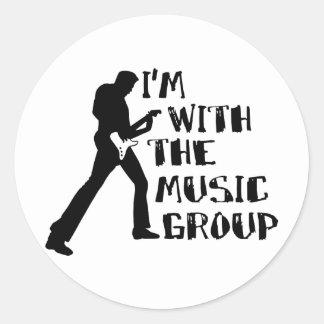 Music Group Classic Round Sticker