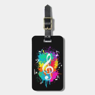 Music grunge bag tag