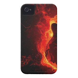music guitar flames fire note dance Destiny'S Case-Mate iPhone 4 Cases