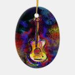 music guitar instrument christmas tree ornaments