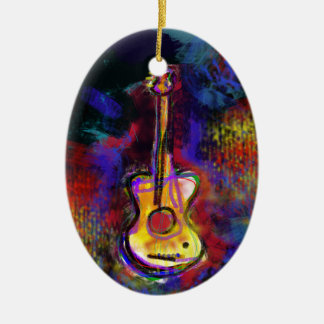 music guitar instrument christmas tree ornaments