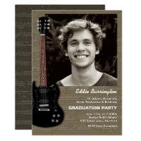 High school graduation party invitations announcements zazzle music guitar photo graduation party invitation filmwisefo Image collections