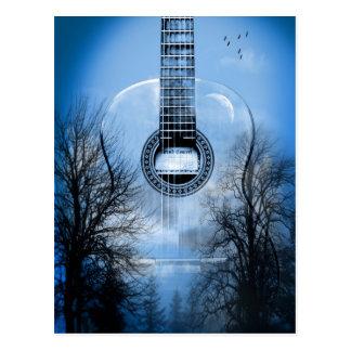 music guitar postcard