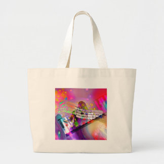 Music Happiness Large Tote Bag