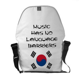 Music Has No Barriers Messenger Bag