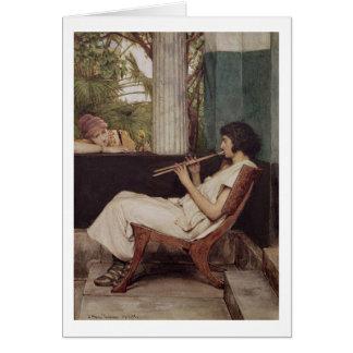 Music Hath Charms (oil on canvas) Card