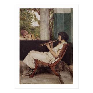 Music Hath Charms (oil on canvas) Postcard