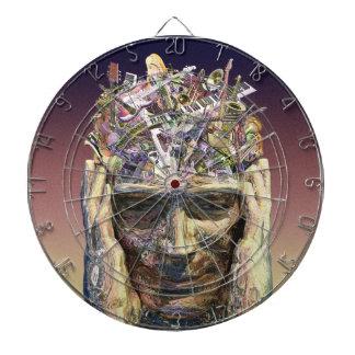 Music Head dart board