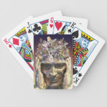 Music head playing cards