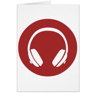 Music Headphones Greeting Card