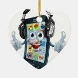 Music headphones phone christmas tree ornament