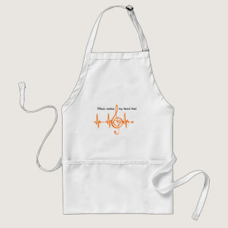 MUSIC HEART BEAT beaten Music of the heart Adult Apron