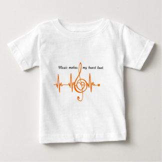 MUSIC HEART BEAT beaten Music of the heart Baby T-Shirt