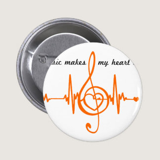 MUSIC HEART BEAT beaten Music of the heart Button