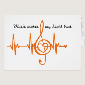 MUSIC HEART BEAT beaten Music of the heart Card