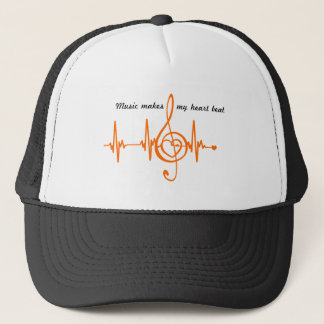 MUSIC HEART BEAT beaten Music of the heart Trucker Hat