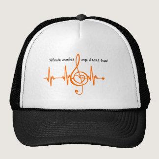 MUSIC HEART BEAT beaten Music of the heart Trucker Hat