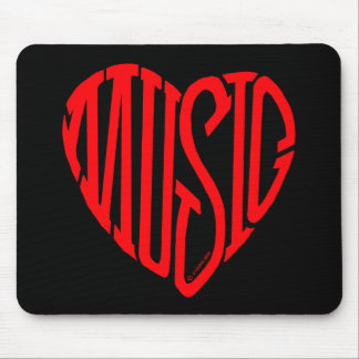 Music Heart Mouse Pad