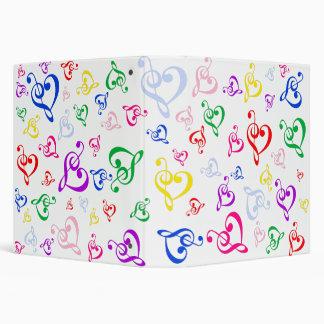 Music heart note binder